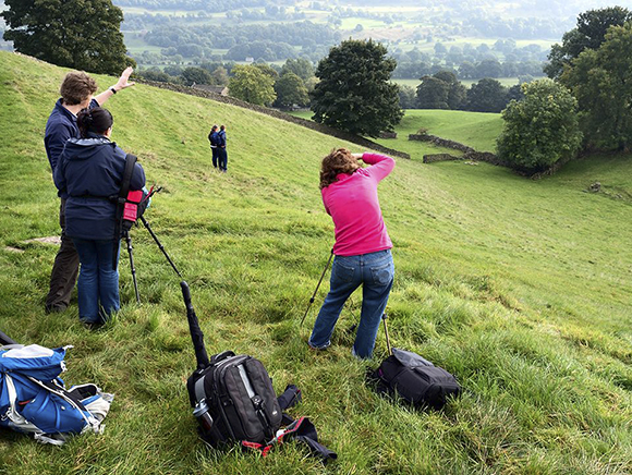 Photographing in Wensleydale near Aysgarth