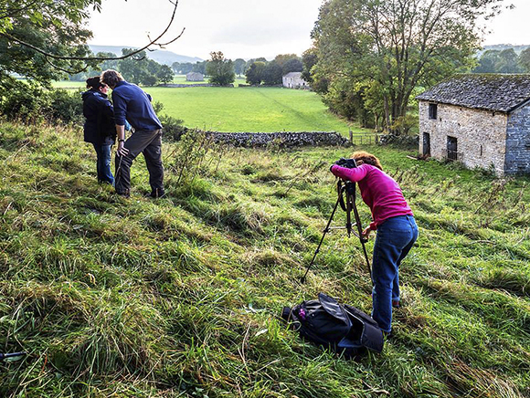 Photographing Field Barns near West Burton