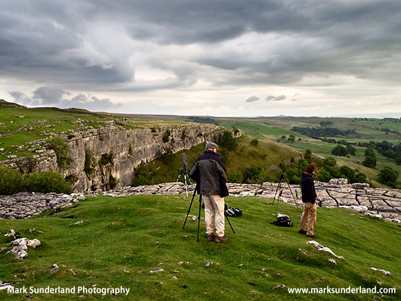 Waiting for the Light at Malham Cove
