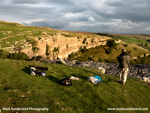 Our Patience Rewarded with a Stunning Sunset at Malham Cove