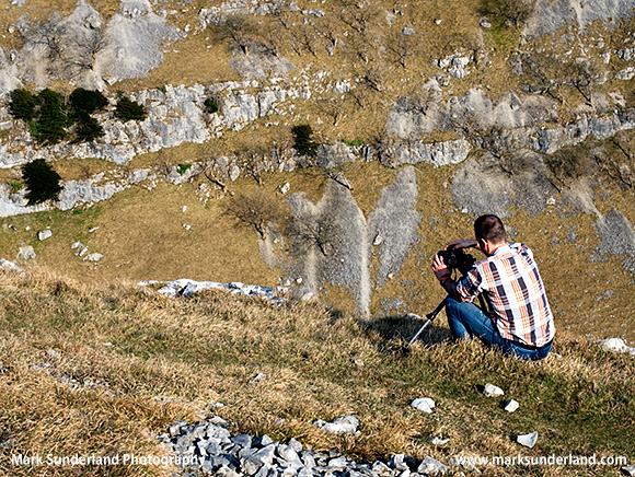 Photographing from the Viewpoint above Gordale Scar