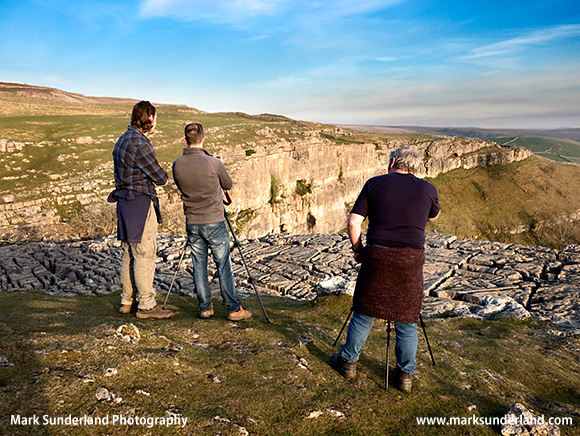 Photographing the Last Rays of the Sun at Malham Cove