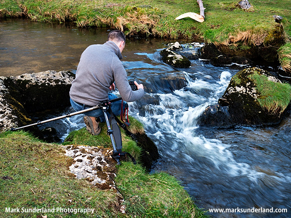 Getting in Close for Moving Water Details at Malham Beck