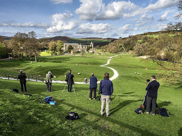 Enjoying Lovely Light at the End of the Workshop Day at Bolton Abbey