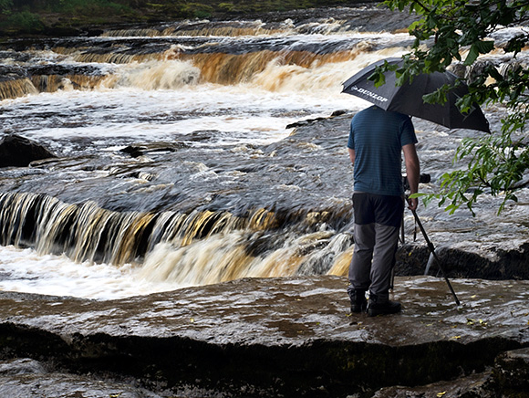 Photographing moving water details at Lower Aysgarth Falls