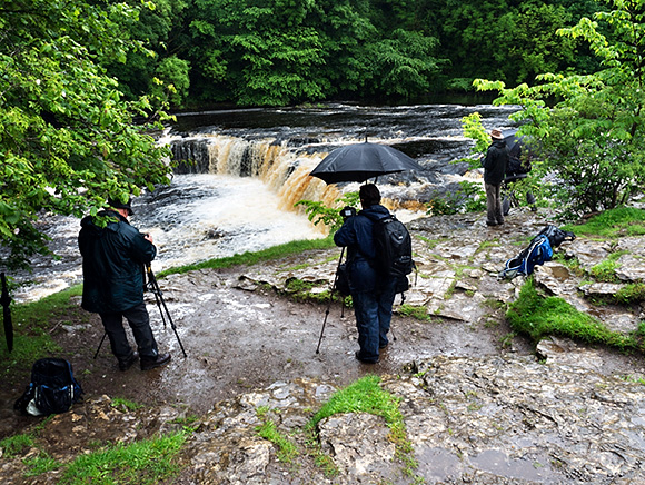 Photographing at Upper Aysgarth Falls