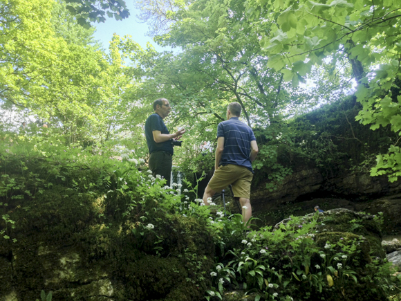 Discussing histograms and composition at Janet's Foss