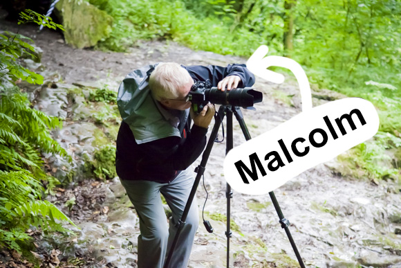 Heres Malcolm Photographing Catrigg Force!
