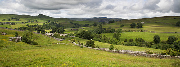 Stainforth Village and Ingleborough, Near Settle, North Yorkshire Dales