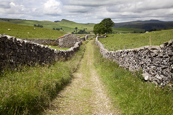 Pennine Bridleway at Stainforth, near Settle, North Yorkshire Dales
