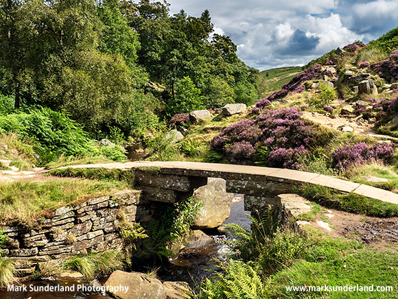 Brontë Bridge over South Dean Beck on Haworth Moor
