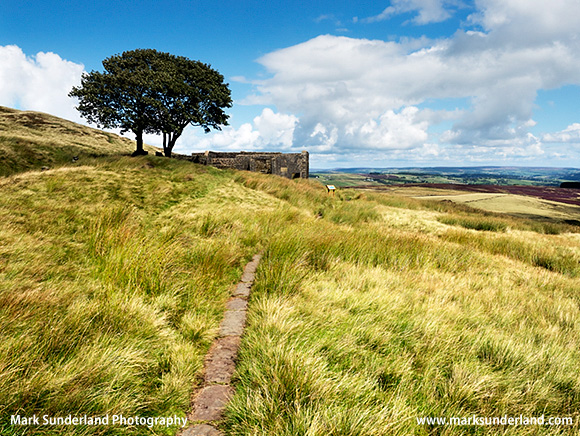 The Brontë Way at Top Withens on Haworth Moor