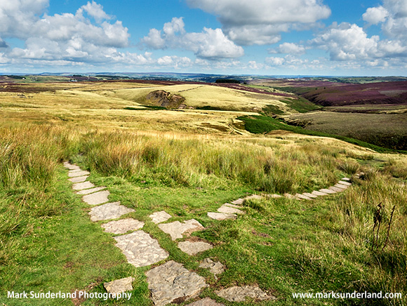 Meeting of the Brontë Way and Pennine Way at Top Withins