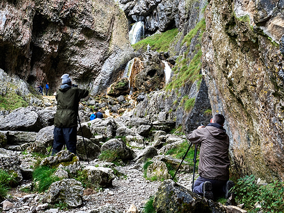 Shooting the Top Waterfall at Gordale Scar