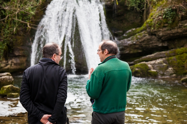 Capturing the waterfall at Janets Foss.  © Sam Oakes Photograph