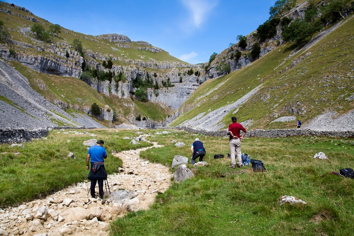 Using the dry beck as a lead in line into Gordale Scar. © Sam O