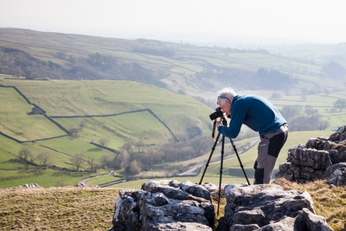 On the tops with stunning 360 views over Malhamdale. © Sam Oakes Photography