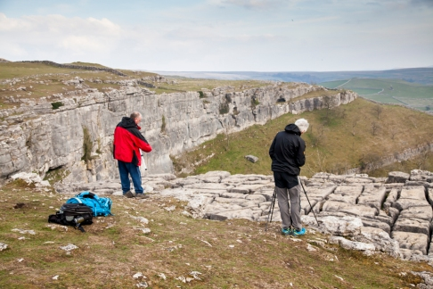 On top of Malham Cove with wide views over Malhamdale. © Sam Oakes Photography