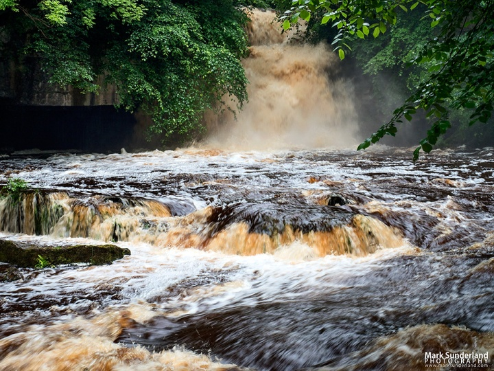 West Burton Waterfall after (very) heavy rain