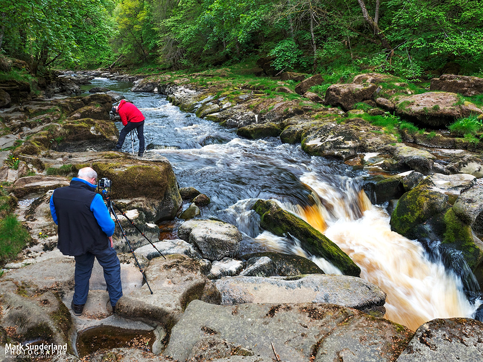 Photographing moving water at The Strid