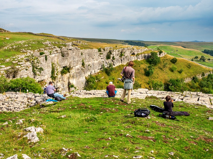 Enjoying some nice light at Malham Cove at the end of the day