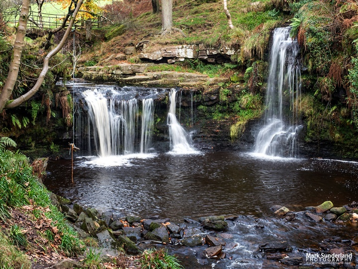 Lumb Hole Waterfall on Crimsworth Dean Beck near Pecket Well, Hebden Bridge