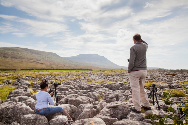 Capturing Ingleborough from the Limestone Pavement