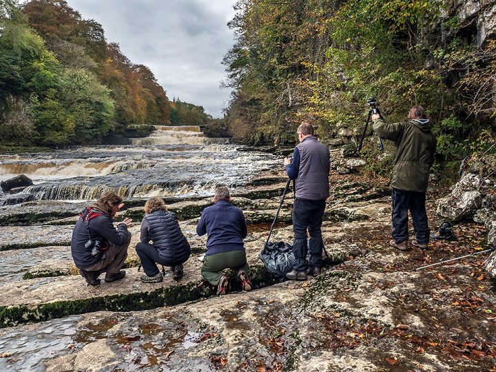 Setting up by the River Ure below Lower Aysgarth Falls