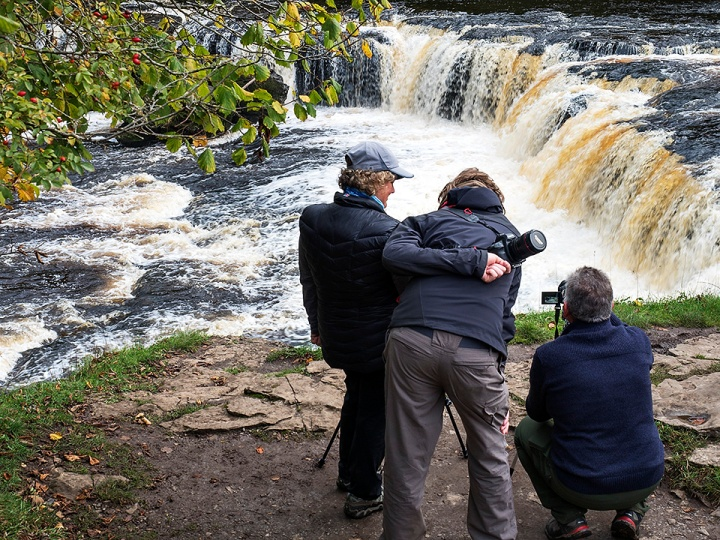 Photographing Upper Aysgarth Falls