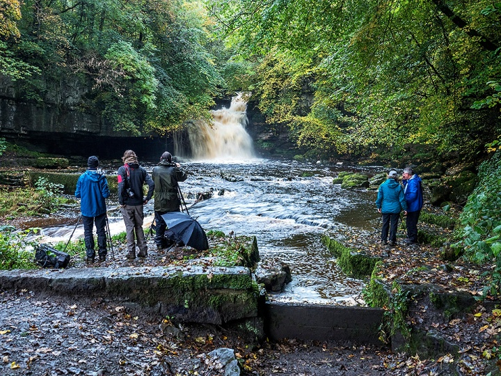 Photographing West Burton Waterfall at the end of the day