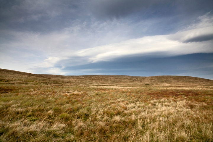 Open moorland at the Ribblehead Viaduct and the Three Peaks. North Yorkshire Dales
