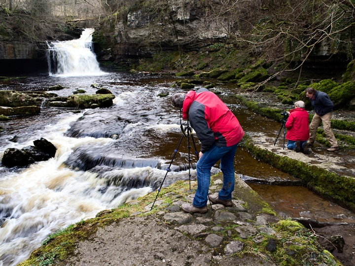 Photographing West Burton Waterfall, March 2015