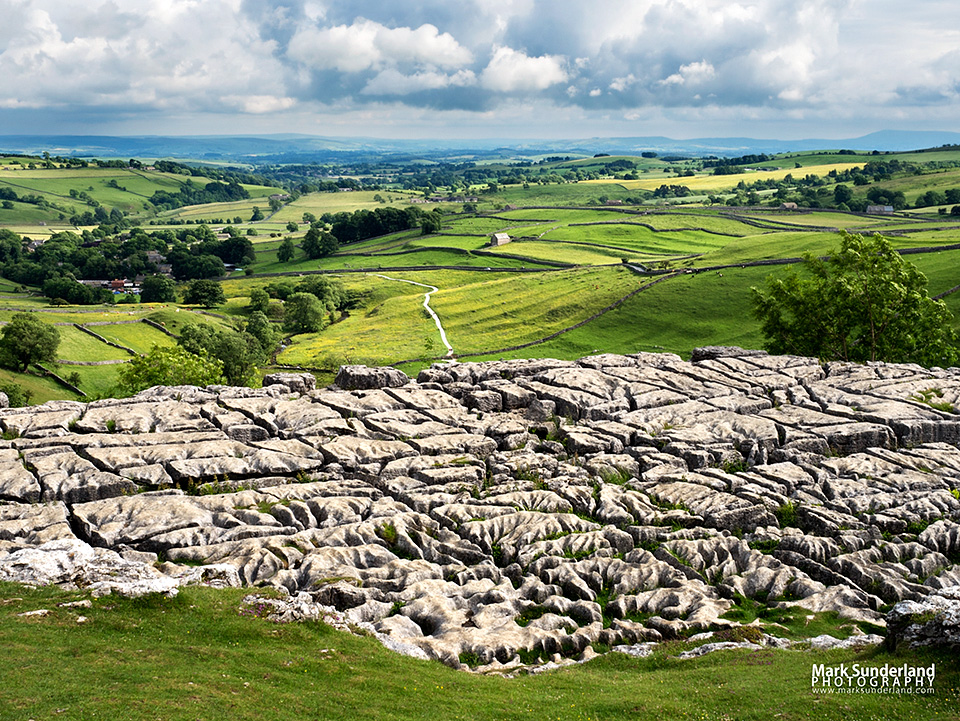 Malhamdale from Malham Cove