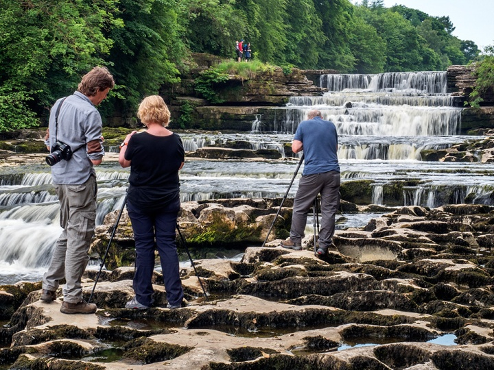 Lower Aysgarth Falls looked great with the low river level in June 2018