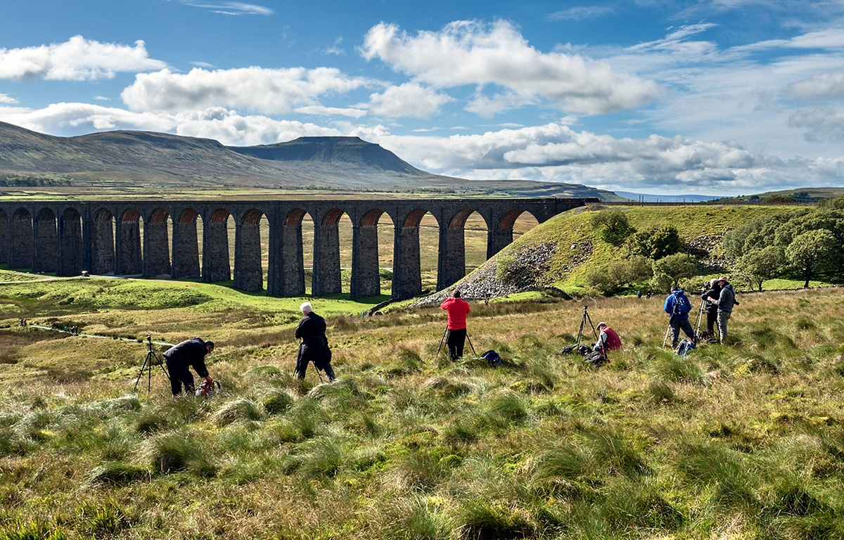 Photographing Ribblehead Viaduct and Ingleborough